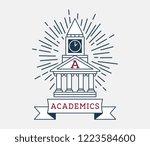 academics house of students is... | Shutterstock .eps vector #1223584600