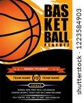 basketball playoff flyer design   Shutterstock .eps vector #1223584903