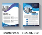 brochure template layout  cover ... | Shutterstock .eps vector #1223587810