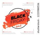 black friday poster flyer... | Shutterstock .eps vector #1223588536