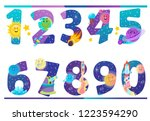 Set Of Numbers With Space And...