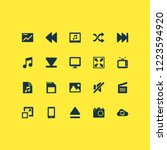 multimedia icons set with photo ... | Shutterstock . vector #1223594920