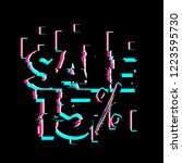 sale 15   creative greeting... | Shutterstock .eps vector #1223595730