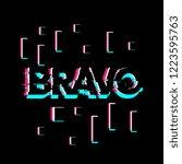 bravo has mean congrats ... | Shutterstock .eps vector #1223595763