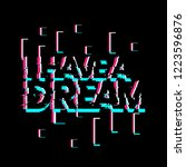 i have a dream  creative... | Shutterstock .eps vector #1223596876