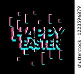 happy easter  creative greeting ... | Shutterstock .eps vector #1223596879