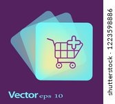 vector shopping cart add to... | Shutterstock .eps vector #1223598886
