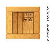 wooden parcel box. box... | Shutterstock .eps vector #1223602240