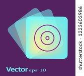 disk icon. flat logo of disk... | Shutterstock .eps vector #1223603986