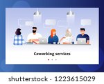 coworkers office concept with... | Shutterstock .eps vector #1223615029