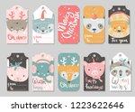 collection of vector christmas... | Shutterstock .eps vector #1223622646