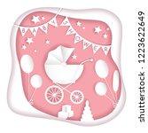 vector paper cut illustration... | Shutterstock .eps vector #1223622649