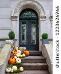 Display Of Pumpkins On A...