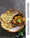 homemade kulcha   indian flat... | Shutterstock . vector #1223627020