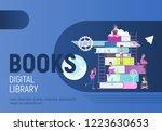modern flat design  books... | Shutterstock .eps vector #1223630653