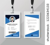 corporate id card template with ... | Shutterstock .eps vector #1223634133