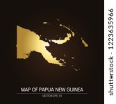 gold map of papua new guinea... | Shutterstock .eps vector #1223635966