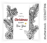 christmas and new year... | Shutterstock .eps vector #1223637346