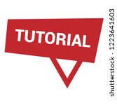 tutorial sign label. tutorial... | Shutterstock .eps vector #1223641603
