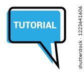 tutorial sign label. tutorial... | Shutterstock .eps vector #1223641606