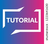 tutorial sign label. tutorial... | Shutterstock .eps vector #1223641630