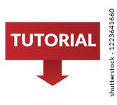 tutorial sign label. tutorial... | Shutterstock .eps vector #1223641660