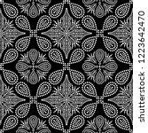 black and white seamless...   Shutterstock .eps vector #1223642470