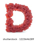 brain alphabet isolated on... | Shutterstock . vector #1223646289