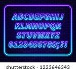 blue purple gradient neon... | Shutterstock .eps vector #1223646343
