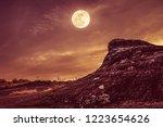 landscape of rock against night ... | Shutterstock . vector #1223654626