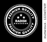 radish premium quality emblem ... | Shutterstock .eps vector #1223657659