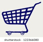 shopping supermarket cart.... | Shutterstock . vector #122366080