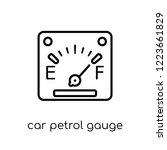 car petrol gauge icon. trendy... | Shutterstock .eps vector #1223661829