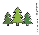 isolated pine tree icon vector... | Shutterstock .eps vector #1223673373