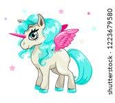 cute vector girlish... | Shutterstock .eps vector #1223679580