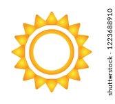 sun neon style logo vector... | Shutterstock .eps vector #1223688910
