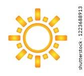 sun line icon vector... | Shutterstock .eps vector #1223688913