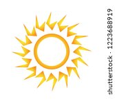 sun icon vector stylized... | Shutterstock .eps vector #1223688919