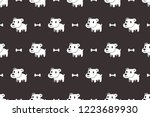 cartoon vector character cute... | Shutterstock .eps vector #1223689930