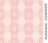 classic seamless vector white... | Shutterstock .eps vector #1223690509