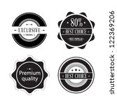 set of retro ribbons and labels.... | Shutterstock .eps vector #122369206