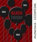 black friday sale banner....   Shutterstock .eps vector #1223692186
