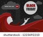black friday sale banner....   Shutterstock .eps vector #1223692210