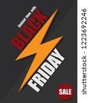 black friday sale banner....   Shutterstock .eps vector #1223692246