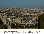 a view of paris from arc de... | Shutterstock . vector #1223692726
