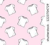 vector white t shirt seamless... | Shutterstock .eps vector #1223704729