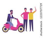 friends having fun cartoons | Shutterstock .eps vector #1223707729