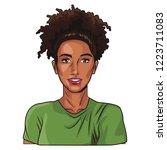 pop art woman cartoon | Shutterstock .eps vector #1223711083