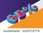 isometric 65  percent off  3d... | Shutterstock .eps vector #1223711773