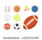 cartoon colorful ball set.... | Shutterstock . vector #1223712190